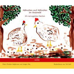 Hähnchen und Hühnchen im Nusswald