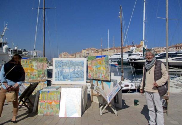 Michel im Hafen von Saint.Tropez