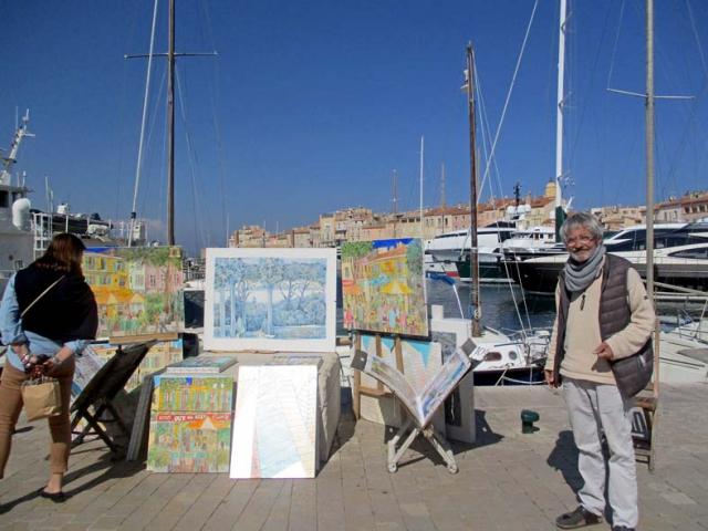 Michel im Hafen von Saint-Tropez