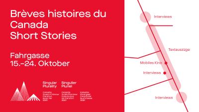 Vom 15. bis 24. Oktober 2021: Frankfurter Fahrgasse die Vielfalt der kanadischen Literatur